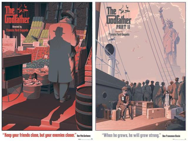 Laurent Durieux's fantastic Godfather posters capture the essence of the movies.