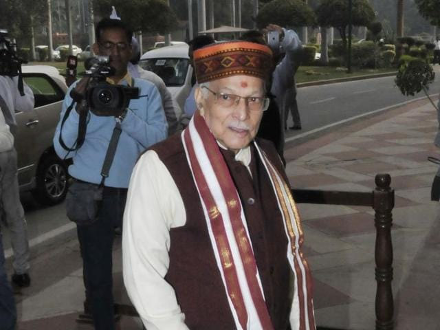 BJP senior leader Murli Manohar Joshi during winter session of Parliament in New Delhi.