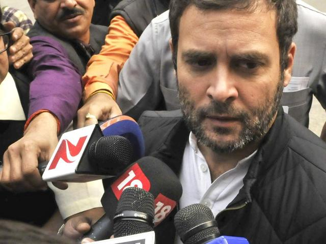 File photo of Congress vice president Rahul Gandhi during winter session of Parliament in New Delhi.  Gandhi accused the PMO of '100% political vendetta' in the National Herald case  on December 9, 2015.