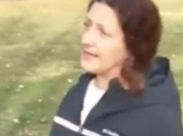 The California state worker who made anti-Islamic slurs and threw coffee and an umbrella at a group of Muslim men praying at San Francisco Bay Area park.