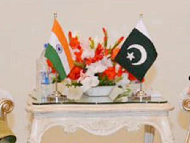 Foreign minister Sushma Swaraj meeting Pakistani Prime Minister's foreign policy adviser Sartaj Azizin Islamabad on Wednesday. The recent appointment of retired general Nasser Khan Janjua as the new NSA of Pakistan has got  Pakistan Military a say in the talks with India.