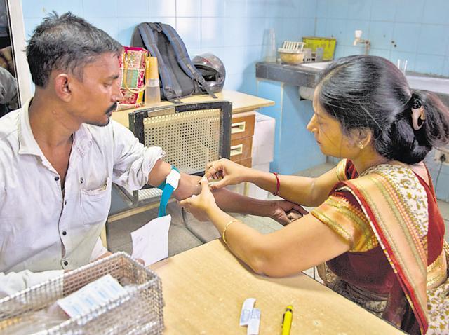 A file photo of Hindu Rao Hospital's dengue ward. Dengue continues to be rampant in New Delhi.
