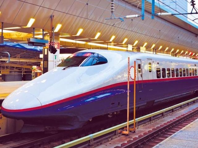 A representational image of a bullet train in Japan. (Shutterstock)