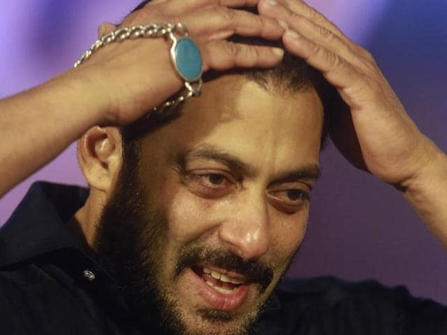 Bollywood actor Salman Khan attends a promotional event for his upcoming movie 'Prem Ratan Dhan Payo' in Mumbai.