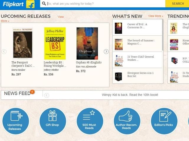 Flipkart won't sell eBooks anymore but plans to capitalise on sales of physical books.