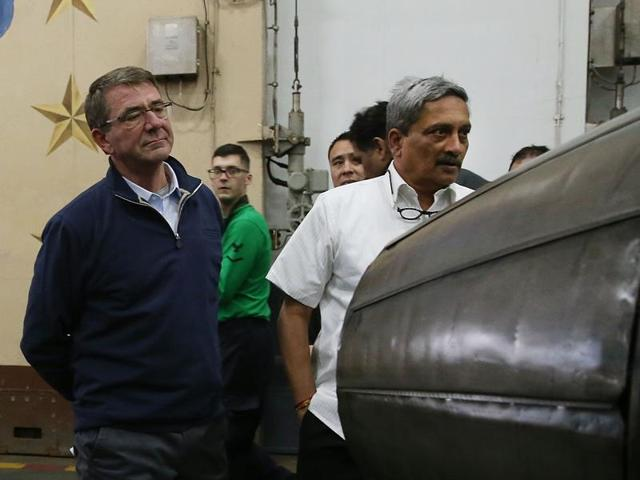 Manohar Parrikar,Ash Carter,US Navy Flight operations