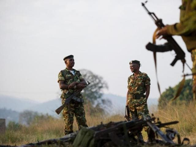 """""""Heavily armed men"""" attacked a base at Ngagara in the north of the city and a military training college in the south, according to a senior military officer."""