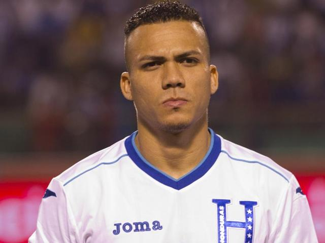 Honduras' soccer player Arnold Peralta prior to a friendly match against Venezuela. Peralta's father Carlos confirmed his son was shot dead by an unidentified gunman in a shopping mall parking lot on Thursday in his hometown of La Ceiba.