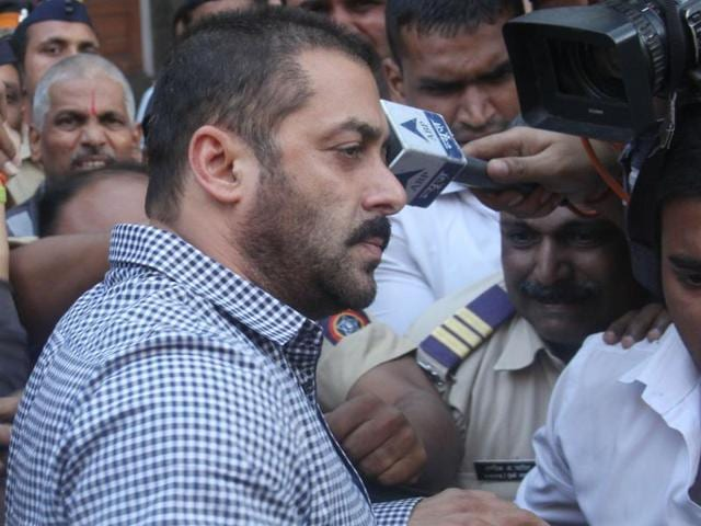 Actor Salman Khan exiting the Bombay high court after being acquitted in the hit-and-run case  on Thursday.