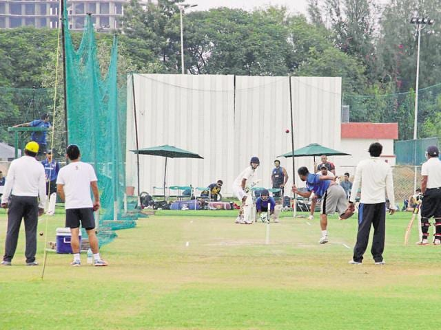 Greater Noida cricket stadium will see the under-19 cricket teams of Afghanistan and Zimbabwe play their first one-day match on December 13.(Sunil Ghosh/HT Photo)