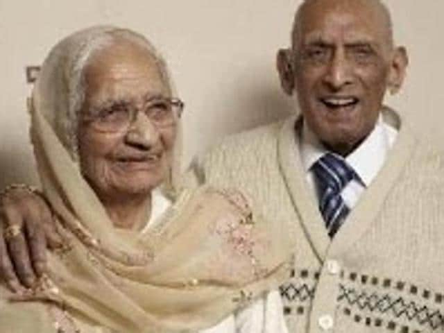 Karam and Kartari Chand, 110 and 103 respectively, tied the knot in a traditional Punjabi ceremony in India on December 11, 1925, during the British Raj and moved to England 40 years later.