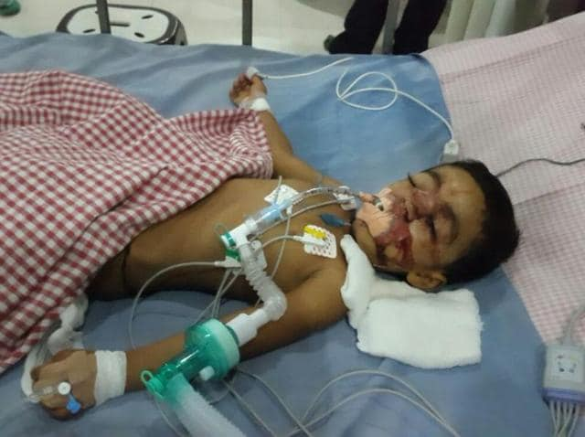 The boy, Sriyansh, was outside his house when the incident occurred on Friday night.