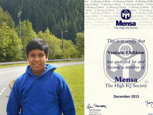 13-year-old schoolboy Venkata Satya Sri Rohan Chikkam was offered a place in the prestigious society after scoring 161 out of 162 marks.