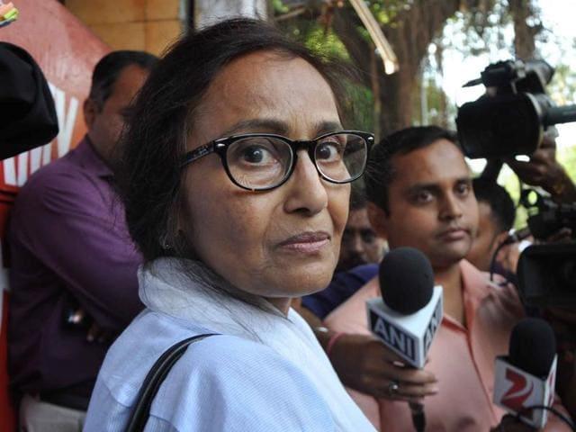 Jiah Khan's mother Rabia Khan arrives at the CBI court in Mumbai on Friday.