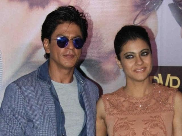 Shah Rukh Khan and Kajol during a promotional event for Dilwale in Mumbai on Dec 11, 2015.