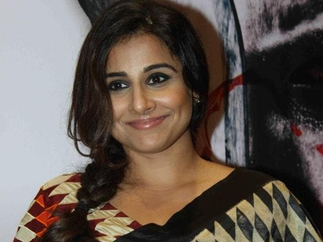 Actor Vidya Balan during a book launch in Mumbai.