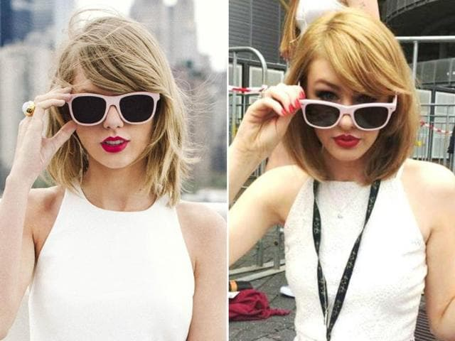 Taylor Swift's teenage faux-twin Olivia Sturgiss said the resemblance is all coincidental.