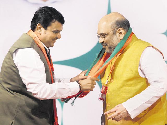 Amit Shah,Devendra Fadnavis,Gopinath Munde