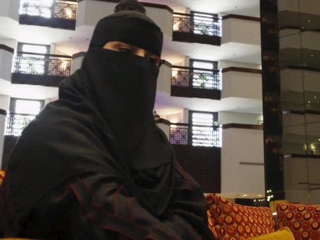 File photo of Fawzia al-Harbi, one of the female candidates who ran in the local municipal council elections, in Riyadh. Another candidate Salma bint Hizab al-Oteibi was elected to the council of Madrakah, in the holy city of Mecca.(Reuters Photo)