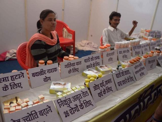 Several self-styled vaidyas, or ayurvedic practitioners, are making science-defying claims at an herb fair organised in Bhopal by the Madhya Pradesh government.