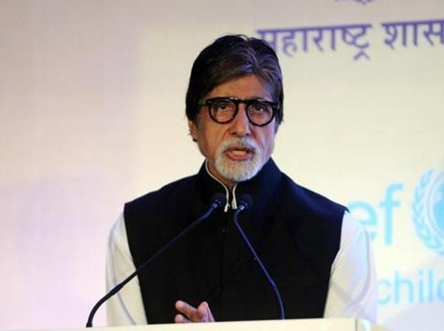 Amitabh Bachchan, a Unicef goodwill ambassador, speaks during the launch of a media campaign for Hepatitis-B organized by the Health Ministry in Mumbai on November 23, 2015.