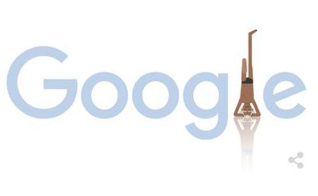 Google Doodle,BKS Iyengar,yoga