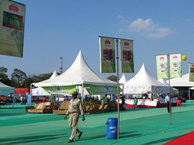 Herbal fair at Lal Parade ground in Bhopal on Monday .