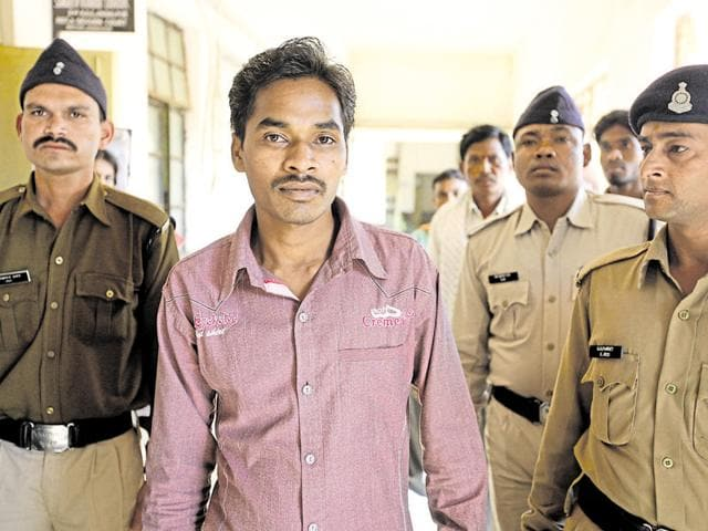 Somaru Nag, a journalist who ran a news agency for Rajasthan Patrika, is accused of keeping a watch on the movements of police for the maoists.(Arun Sharma/ HT Photo)