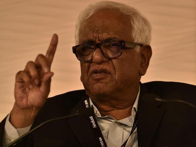 Justice Mukul Mudgal speaks at the HT Leadership Summit in Delhi in this December 5 photo. The former judge investigated alleged corruption in IPL.