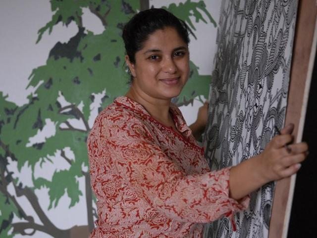File photo of Hema Upadhyay at her studio in Mumbai.