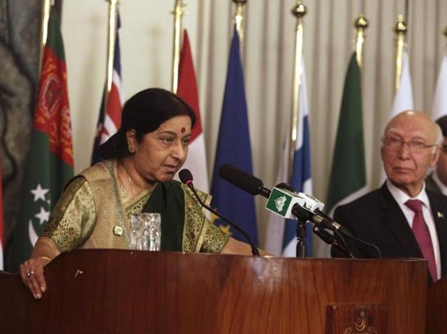 Sushma Swaraj,Parliament,India-Pakistan talks