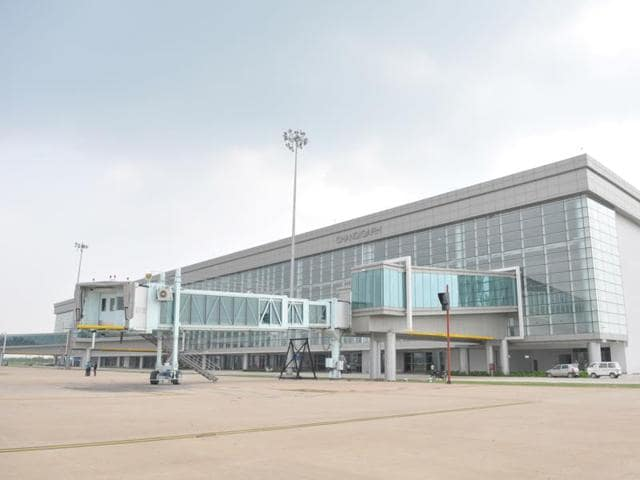 Chandigarh International Airport after the inauguration.