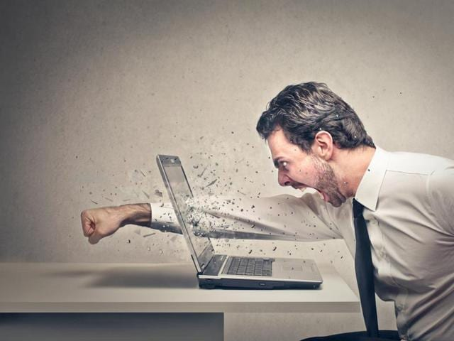 People experiencing anger become less precise in their mouse movements and move the cursor at different speeds.