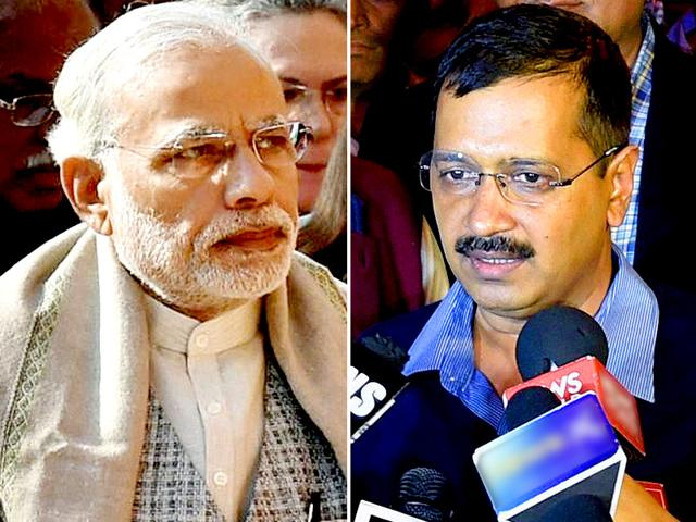 Delhi CM Arvind Kejriwal (R) on Tuesday accused PM Narendra Modi of using the CBI to harass him. Kejriwal alleged there is vendetta against him.