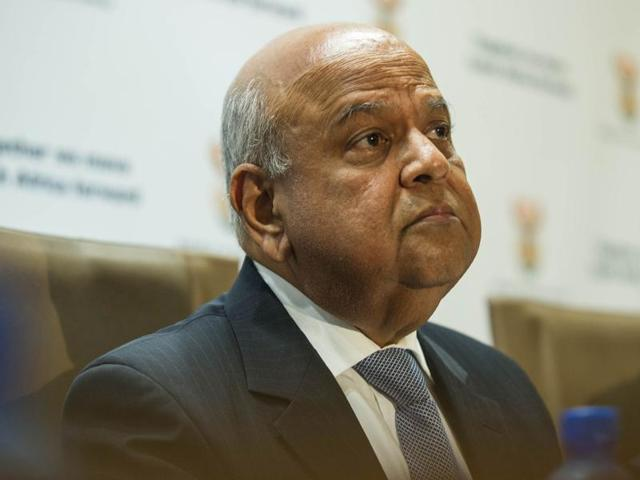 Newly Appointed South African finance minister Pravin Gordhan at a press conference in Pretoria on Monday. Gordhan vowed to stabilise the tottering economy after his predecessor lasted just four days in the job amid a dramatic slump in the rand.