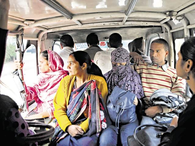Most women working in small firms and establishments depend on cheaper and unreliable modes of public transport such as crowded shared autos and tempos and have to travel in uncomfortable conditions.