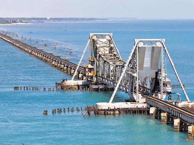 Pamban Bridge, Rameshwaram, Tamilnadu, India