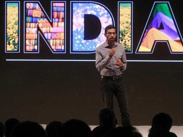Pichai is in India along with eight Google vice-presidents, including those for Search, YouTube, Maps, and Android among others.