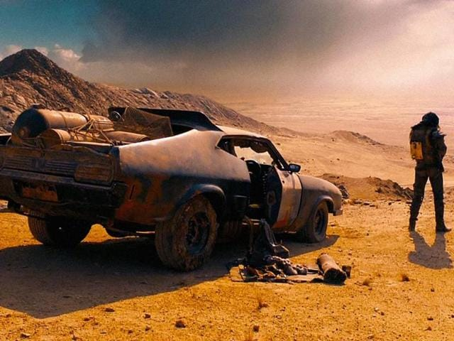 A still from the opening scene of Mad Max: Fury Road.
