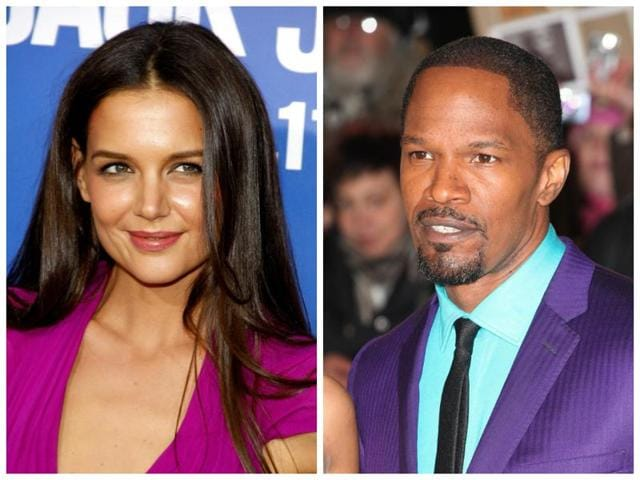 Katie Holmes was spotted at Jamie Foxx's birthday party.
