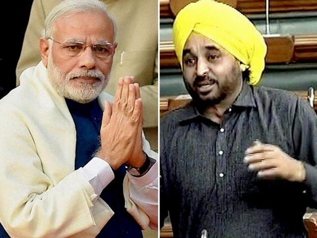 Sangrur MP Bhagwant Mann speaks to the media in Jalandhar in this file photo. Mann has stood out in Parliament for his wit.