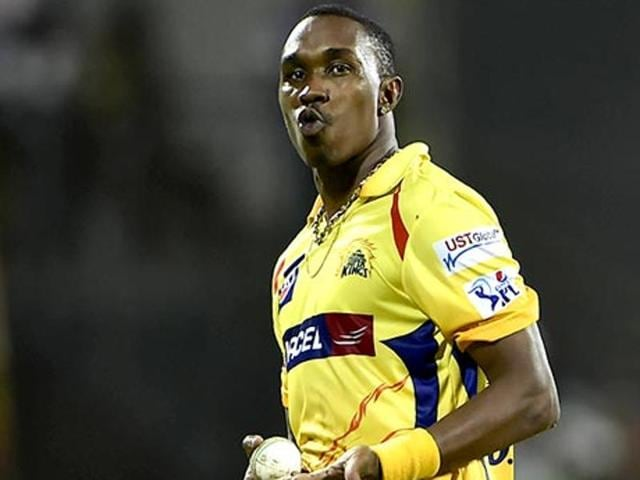 A file photo of all rounder Dwayne Bravo while playing for Chennai Super Kings in the Indian Premier League.