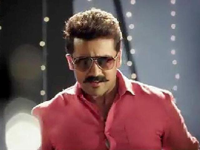 Suriya will make his Telugu debut in the film by Trivikram. The actor in a still from Masss.