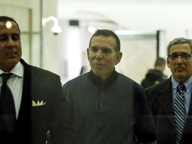 Former Honduras President Rafael Callejas made a US court appearance on December 15, 2015 in New York.