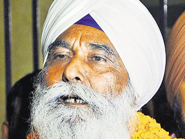 Former Sikh militant Waryam Singh outside Bareilly Central Jail on Thursday.