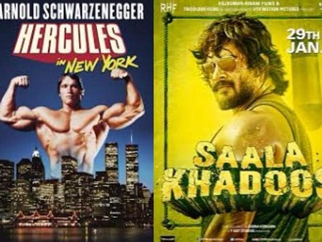 Madhavan says Arnold Schwarzenegger had 20-inch biceps when he did his first film, and when he did Saala Khadoos, being a vegetarian, he managed 18 and half inches.