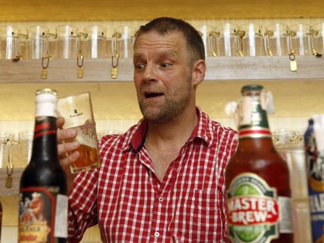 Oliver Schauf, brewmaster,  Doolally Taproom, Bandra