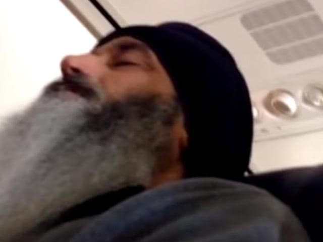 Screengrab of the YouTube video posted by a passenger under the title 'Would you feel safe?' on December 9.