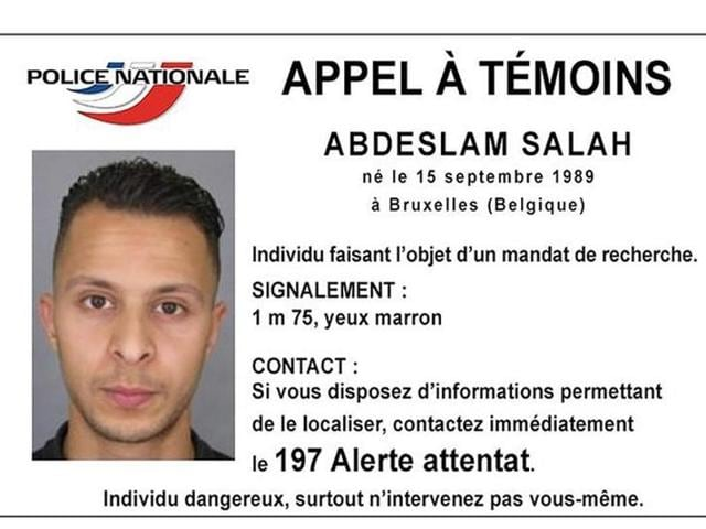 Handout picture shows Belgian-born Abdeslam Salah seen on a call for witnesses notice released by the French Police Nationale information services on their twitter account November.