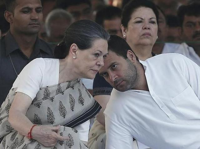 Congress chief Sonia Gandhi with her son and party vice-president Rahul Gandhi. Sources have said that the two top leaders of the party may not seek bail in the National Herald case.